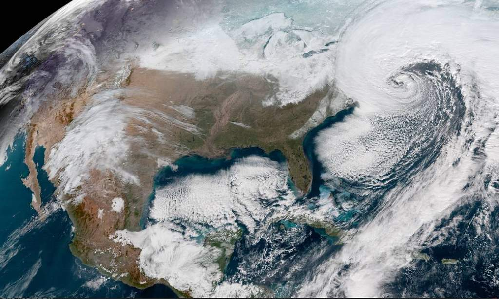 Winter Stom Grayson - Satelite Image
