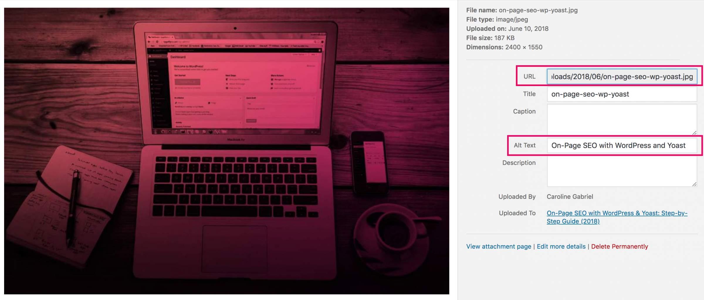 On-Page SEO WordPress Images Optimization